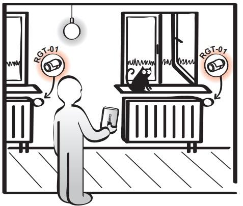 سنسور ترموستات رادیاتور بیسیم رادیویی خانه هوشمند