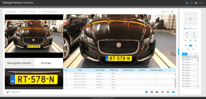 ابزار نرم افزاری ANPR دوربین مداربسته برای استخراج خودکار اطلاعات خودرو