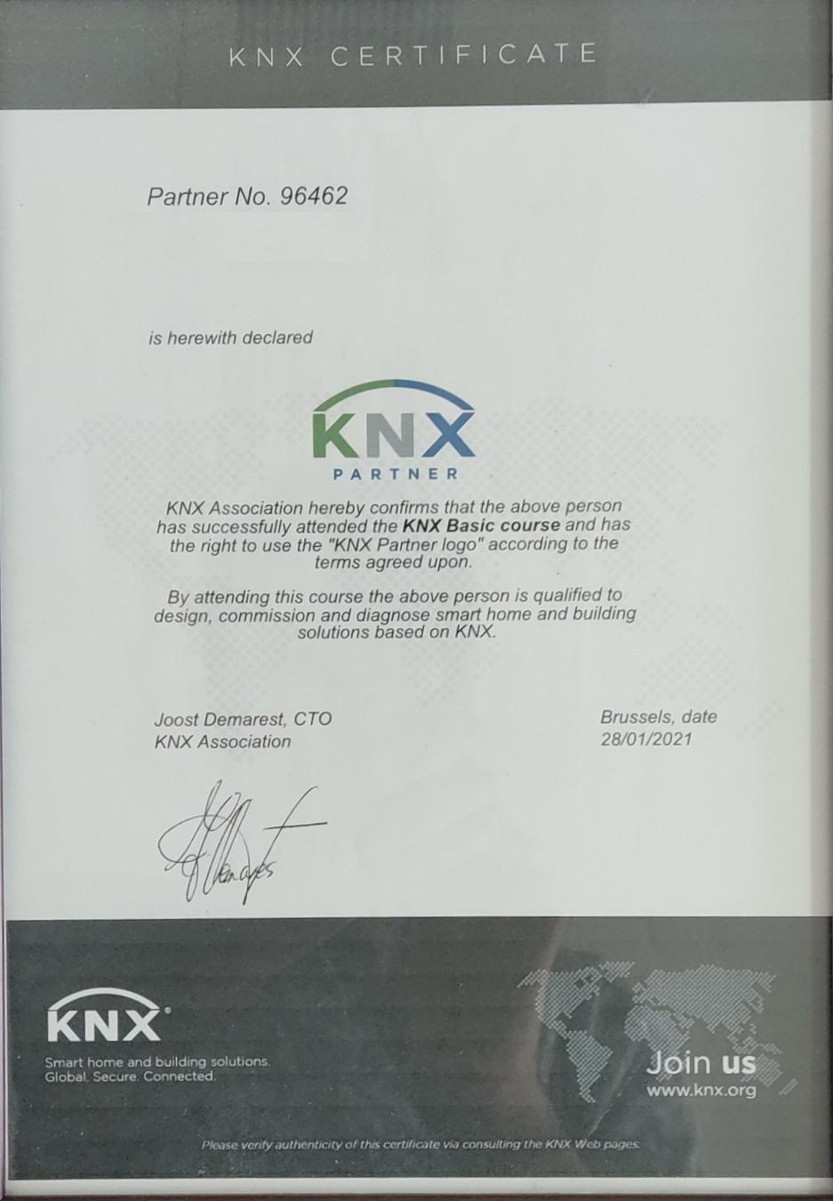 دوره مقدماتی KNX شرکت کارن