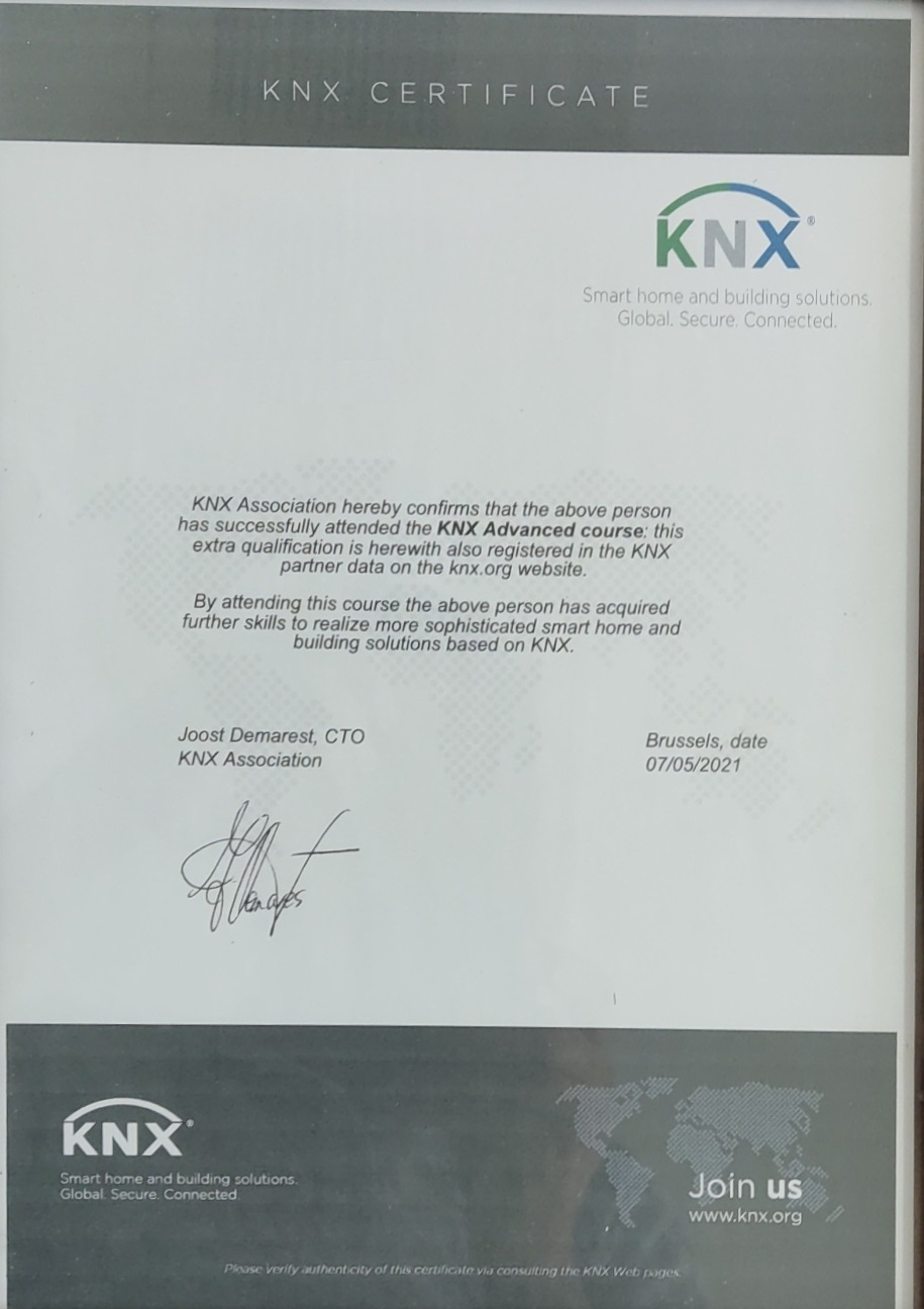 دوره پیشرفته KNX شرکت کارن