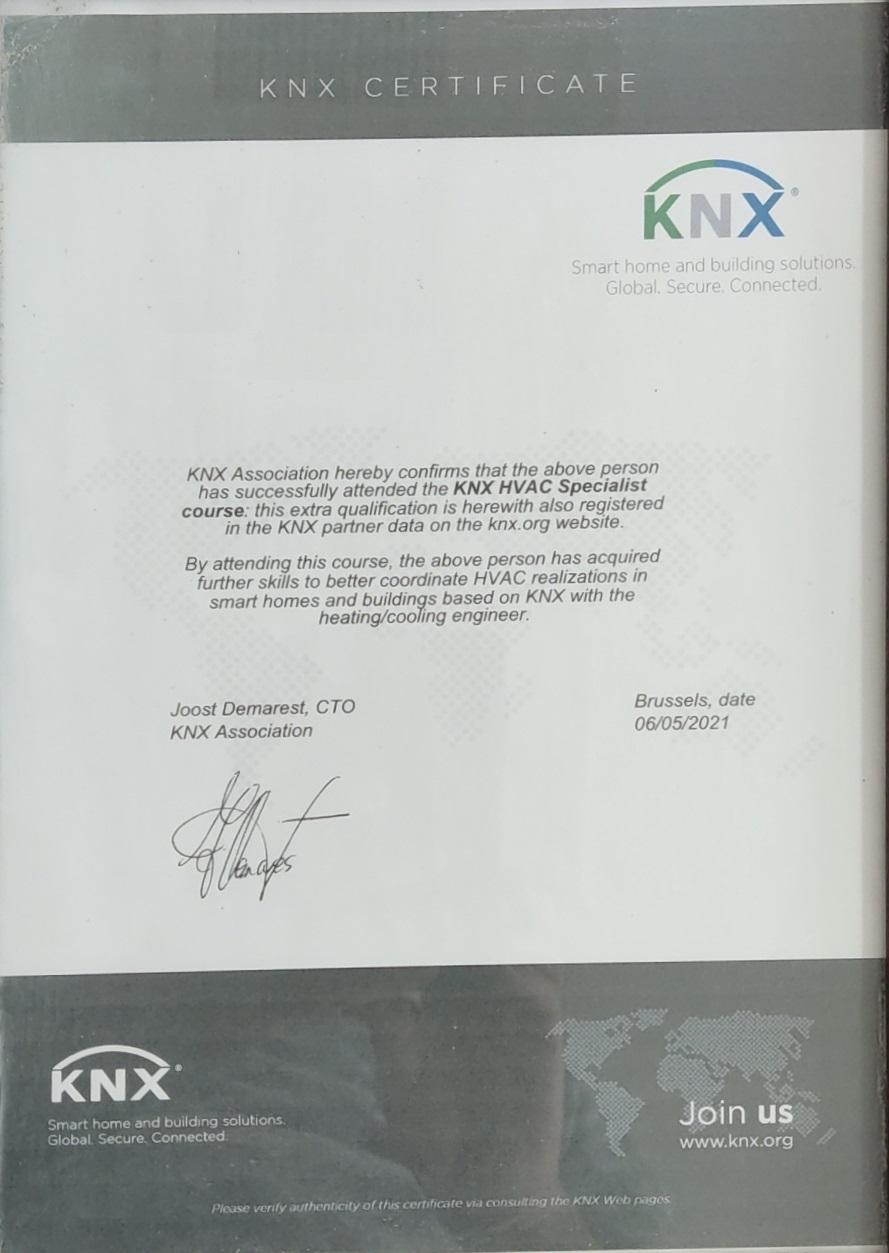 دوره HVAC KNX شرکت کارن